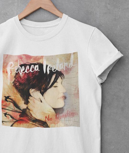 Rebecca Ireland Tshirt No Questions Music Graphic Design By Mango Tree Media