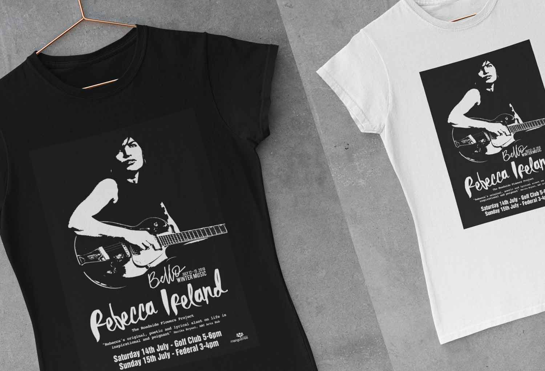 Rebeeca Ireland Bello Winter Festival Tshirt Merch Design By Mango Tree Media
