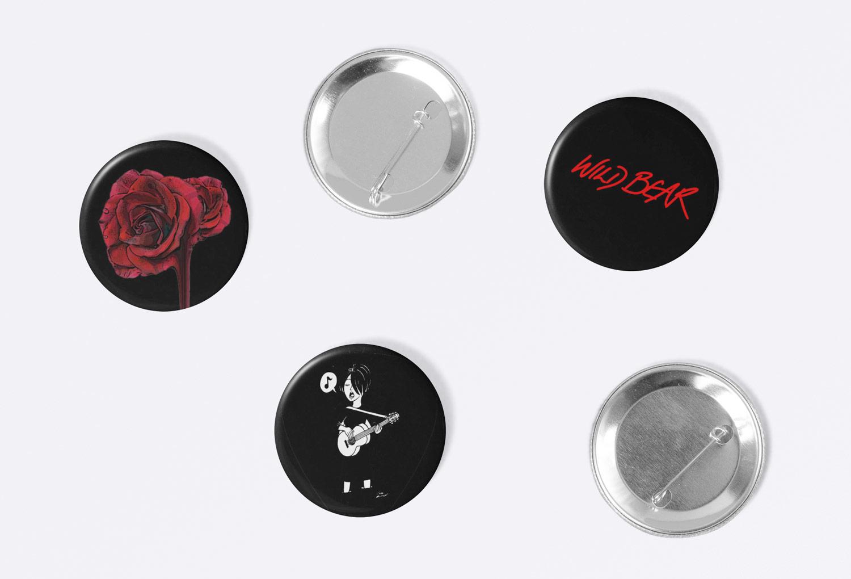 Rebecca Ireland Button Badge Music Merch By Mango Tree Media