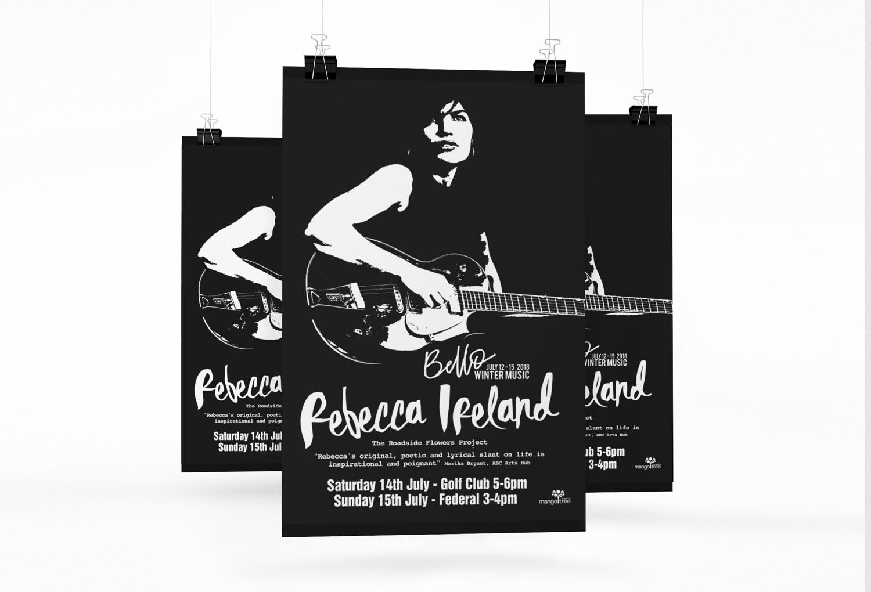 Rebecca Ireland Graphic Design Festival Poster By Mango Tree Media
