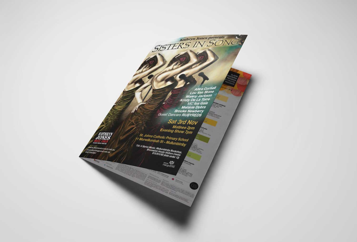 Sister Of Song Program Brochure Event Graphic Design By Mango Tree Media