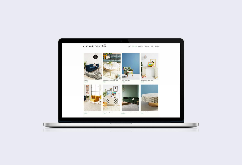 Vintage Stylist Viv Interior Design Online Shop Page Website Design By Mango Tree Media