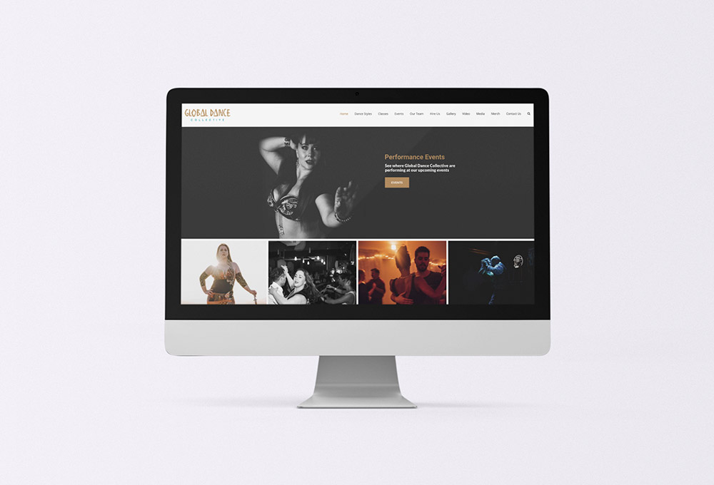 Global Dance Collective Website homepage